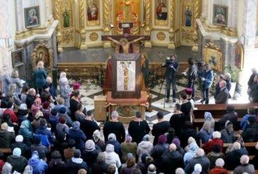 До Архикатедрального Собору Тернополя привезли копію чудотворної ікони «Розп'яття Спасителя» (ФОТО)