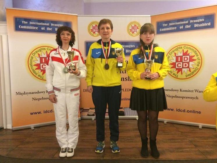 Представниця Тернопільського «Інваспорту» Ольга Концевич – бронзова призерка чемпіонату Європи з шашок-100