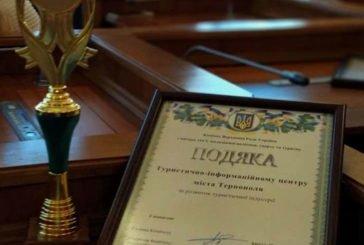 Туристично-інформаційний центр м. Тернополя отримав відзнаку «За розвиток туристичної індустрії»