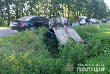 На Тернопільщині водій на Хонді врізався у ВАЗ та перекинувся (ФОТО)