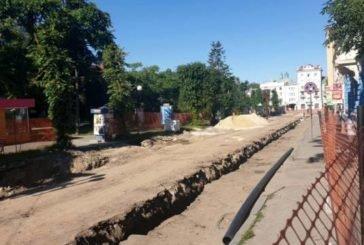 У Тернополі на вулиці Чорновола оновлюють інженерні мережі (ФОТО)