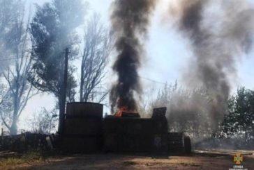 Поблизу Тернополя через спалювання стерні могла зайнятися АЗС (ФОТО)