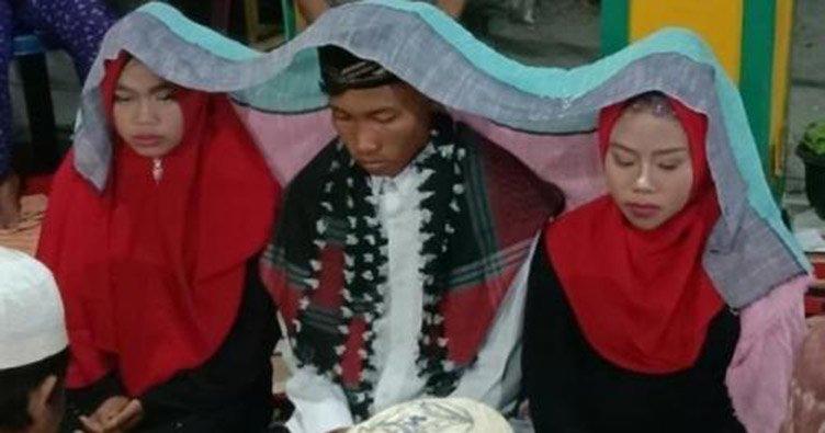 Індонезієць одружився одночасно з двома дівчатами
