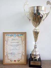 Тернопільській ОДЮСШ із зимових видів спорту вручено кубок за третє місце серед ДЮСШ України