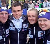 Четвірка тернопільських біатлоністів – срібні призери змішаної естафети на чемпіонаті України з літнього біатлону