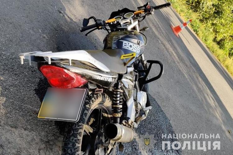 На Борщівщині мотоцикліст після ДТП потрапив до реанімації (ФОТО)