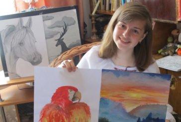 У доробку юної художниці з Лановеччини – понад сорок картин (ФОТО)