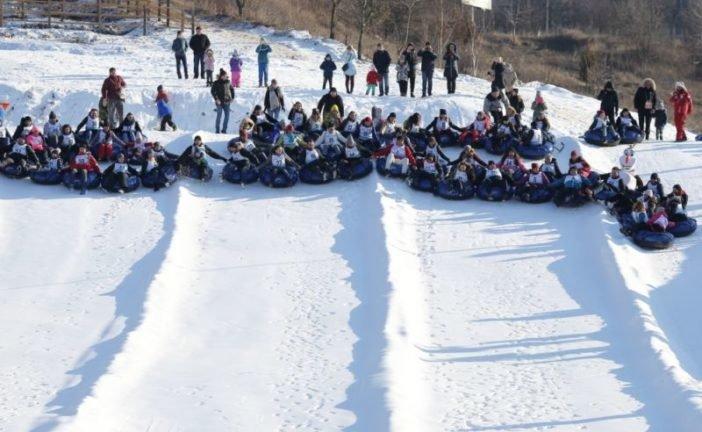 У Тернополі встановили новий рекорд «Наймасовіший спуск на сноутюбах» (ФОТО)