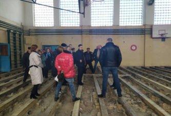 Як у Лановецькій школі №1 на Тернопільщині встелили підлогу з пліснявою (ФОТО)
