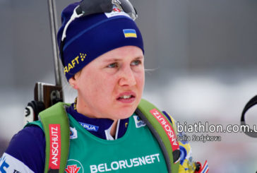 Тернополянка Анастасія Меркушина була найшвидшою на обох вогневих рубежах в змішаній естафеті ЧС