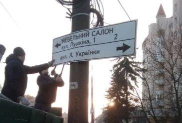 У Тернополі, на «Східному», демонтували незаконну рекламу (ФОТО)