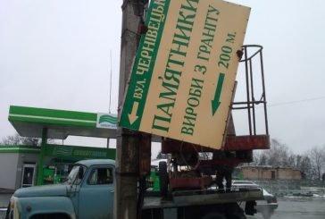 З електроопор однієї з вулиць Тернополя демонтували незаконну рекламу (ФОТО)
