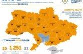 В Україні виявили 1251 випадок захворювання на коронавірус