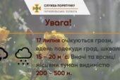 Знову негода: на Тернопільщині прогнозують шквали і град