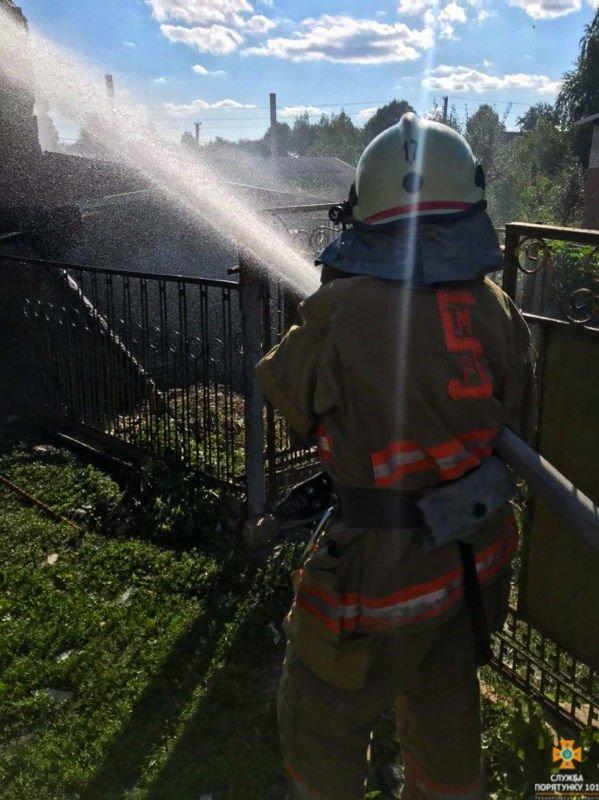 Житель Зборівщини у пожежі втратив урожай