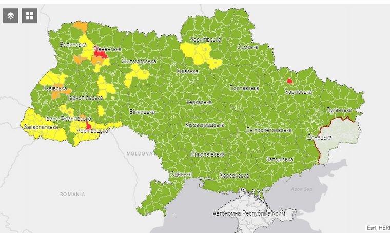 "Тернопіль перевели в ""зелену"" зону"