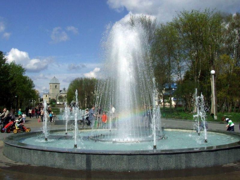 У парку «Топільче» комунальні служби проводять роботи з очищення фонтану
