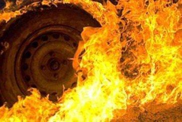 У Тернополі згорів «Daewoo Lanos»