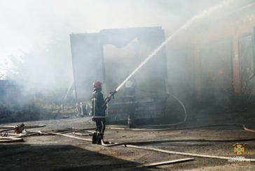 У Тернопільському районі вантажівка, що загорілася, могла наробити багато біди (ФОТО)
