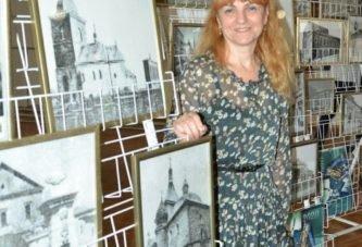 На її картинах – минуле і душа Тернополя: Ірина Кошелінська голкою і ниткою відтворює ретросвітлини рідного міста на полотні (ФОТО)