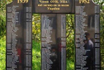 На Тернопільщині в селищі Товсте відкрили пам'ятник членам ОУН-УПА, які загинули за волю України