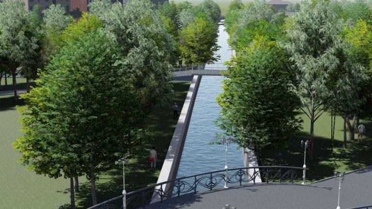 Як виглядатиме річка Рудка в тернопільському парку Шевченка після капремонту колектора (ФОТО)