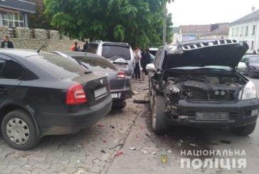 У Кременці в аварію потрапили одразу п'ять іномарок (ФОТО)