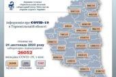 На Тернопільщині за добу виявили 238 випадків захворювання на коронавірус, дев'ять людей померло