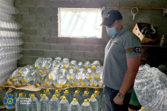 На Тернопільщині СБУ викрила підпільні алкоцехи: вилучено напоїв на півмільйона гривень