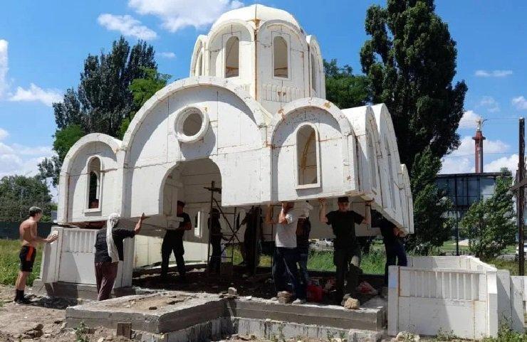 В Україні побудували церкву з… пінопласту