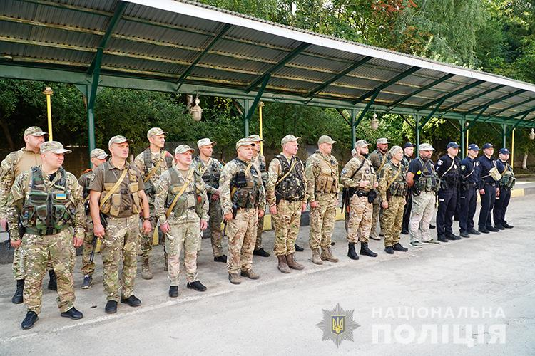 Тернопільські поліцейські поїхали на ротацію в зону ООС