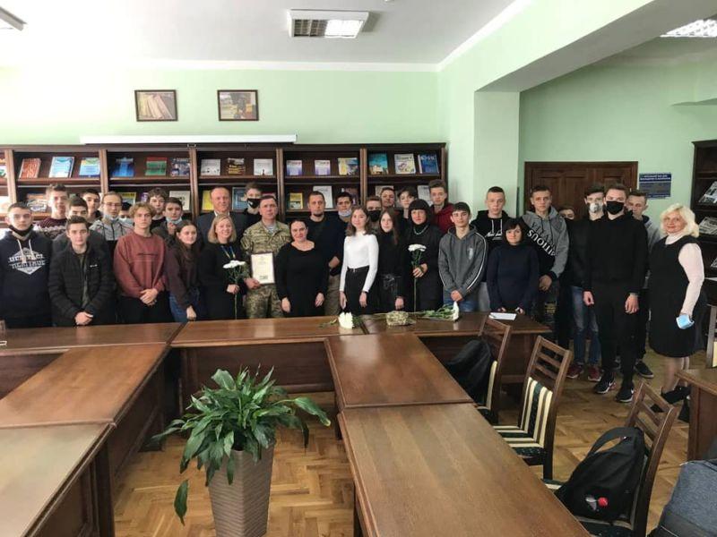 Ветерани війни провели «Урок Звитяги» для студентів ЗУНУ